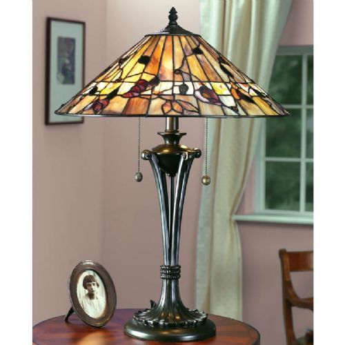 Bernwood Large Table Lamp (Nature, Traditional, Large Table lamp) TG62T (Tiffany style)